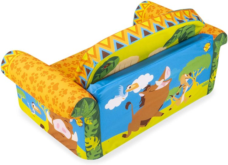 Marshmallow Furniture Kids 2-in-1 Flip Open Couch Bed Sleeper Sofa, The Lion King