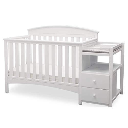 Delta Children Abby Convertible Crib and Changer, Blanca White