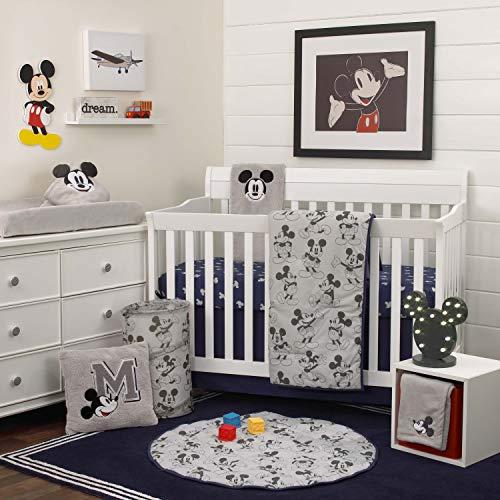 Disney Mickey Mouse 6 Piece Nursery Crib Bedding Set