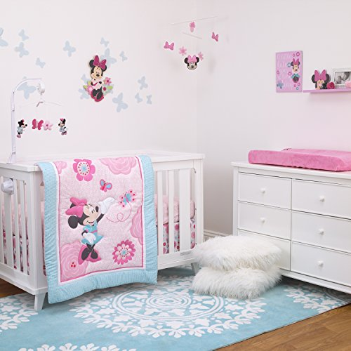 Disney Minnie Mouse 3-Piece Nursery Crib Bedding Set