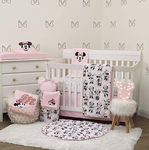 Disney Minnie Mouse 6 Piece Nursery Crib Bedding Set