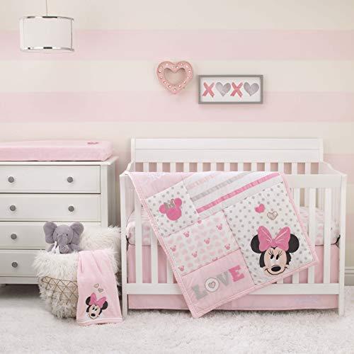 Disney Minnie Mouse Love to Love 3 Piece Nursery Crib Bedding Set