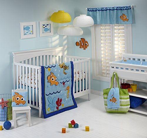Disney Nemo Wavy Days 4 Piece Crib Bedding Set