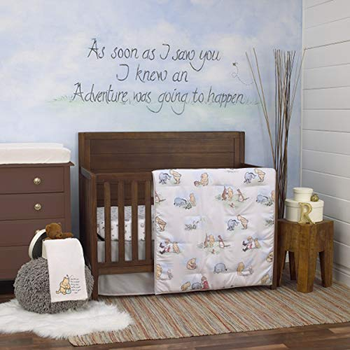 Disney Winnie The Pooh Classic Storybook 6 Piece Nursery Crib Bedding Set