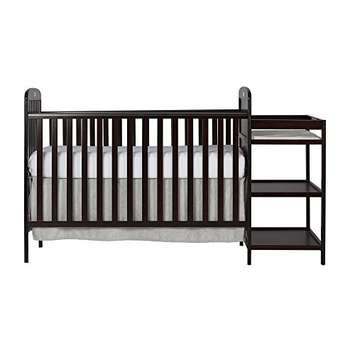 Dream On Me Anna 4-in-1 Full Size Crib and Changing Table Combo, Espresso