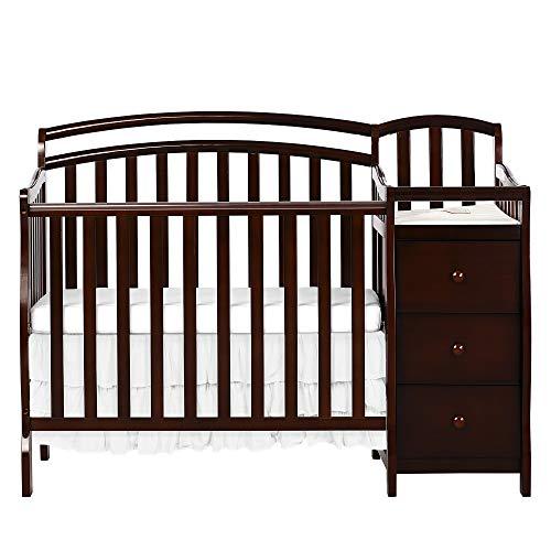 Dream On Me Casco 3 in 1 Mini Crib and Dressing Table Combo, Espresso