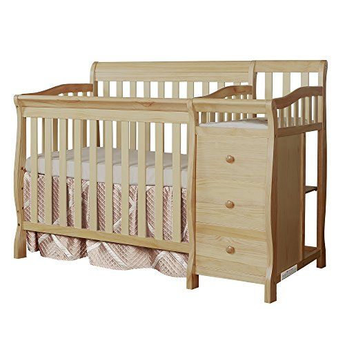 Dream On Me Jayden 4-in-1 Mini Convertible Crib And Changer, Natural