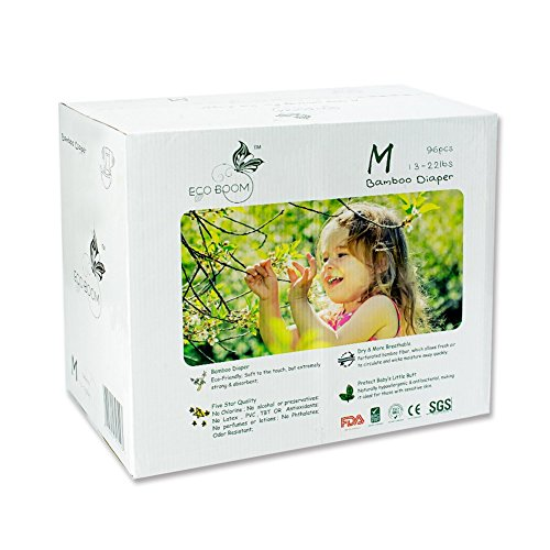 ECO BOOM Baby Bamboo Biodegradable Eco Friendly Disposable Diapers