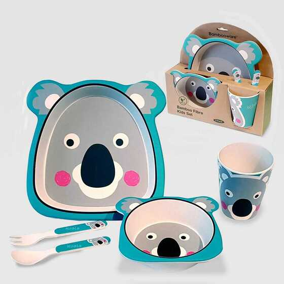 5pc Bamboo Kids Dinnerware Set – Certified International (Koala)
