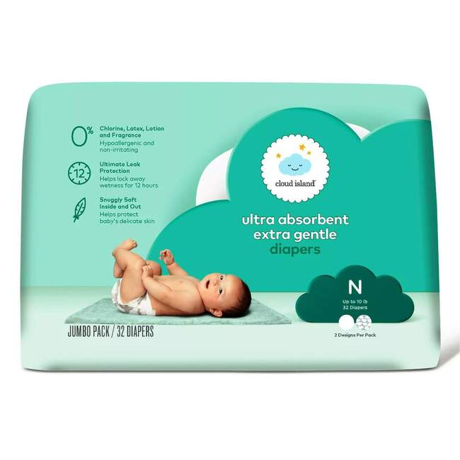 Cloud Island Ultra Absorbent Diapers