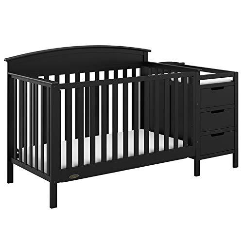 Graco Benton 4-in-1 Convertible Crib and Changer, Black
