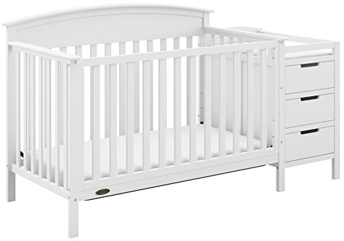 Graco Benton 4-in-1 Convertible Crib and Changer, White