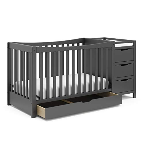 Graco Remi 4-in-1 Convertible Crib and Changer, Gray