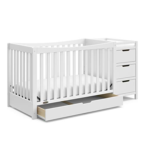 Graco Remi 4-in-1 Convertible Crib and Changer, White