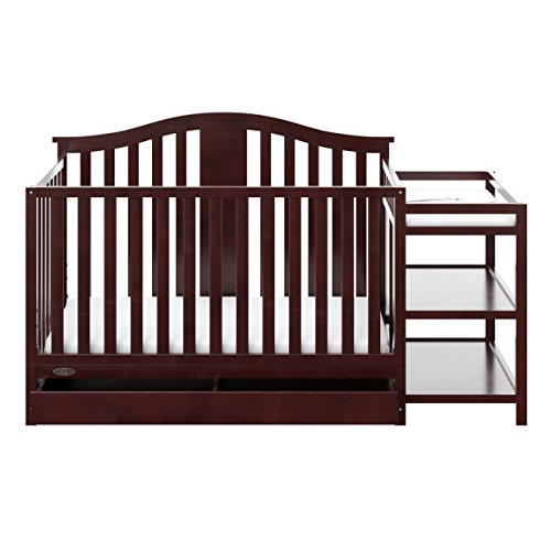 Graco Solano 4-in-1 Convertible Crib and Changer with Drawer, Espresso