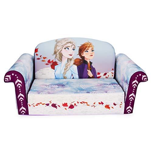 Marshmallow Furniture Kids 2-in-1 Flip Open Couch Bed Sleeper Sofa, Disney Frozen 2