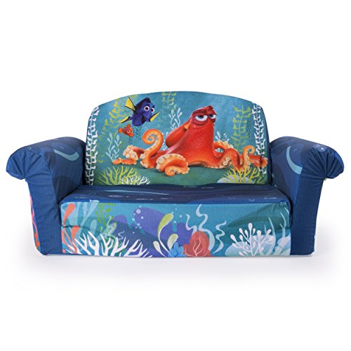 Marshmallow Furniture Kids 2-in-1 Flip Open Couch Bed Sleeper Sofa, Finding Dory