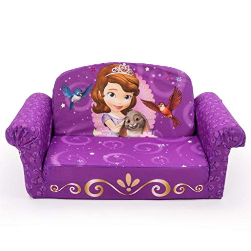 Marshmallow Furniture Kids 2-in-1 Flip Open Couch Bed Sleeper Sofa, Sofia The First