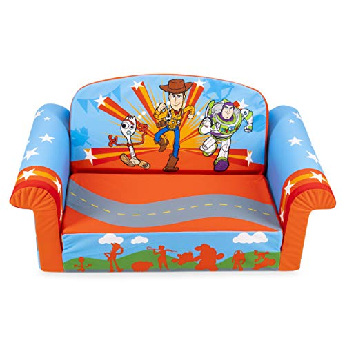 Marshmallow Furniture Kids 2-in-1 Flip Open Couch Bed Sleeper Sofa, Toy Story