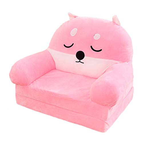 Olpchee Plush 2-in-1 Flip Open Children Sofa, Corgi