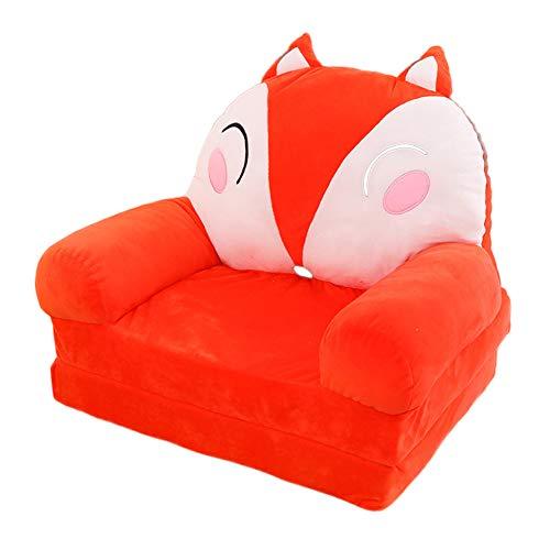 Olpchee Plush 2-in-1 Flip Open Children Sofa, Fox