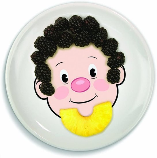 Fred and Friends MR. FOOD FACE Kids' Ceramic Dinner Plate