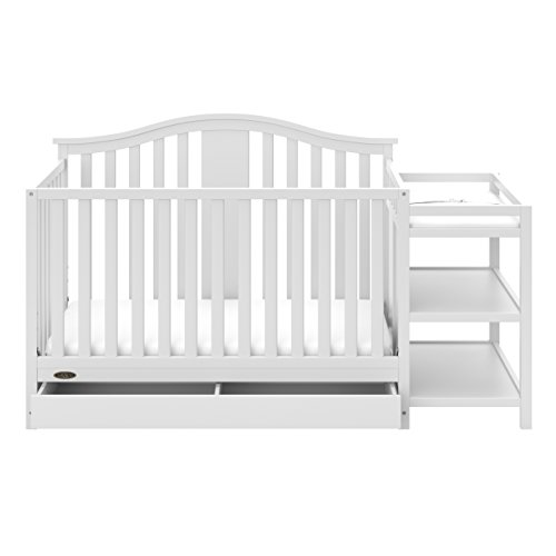 Graco Solano 4-in-1 Convertible Crib and Changer with Drawer, White