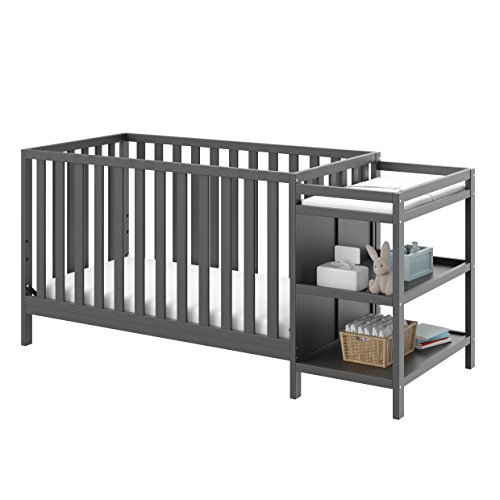 Storkcraft Pacific 4-in-1 Convertible Crib and Changer, Gray