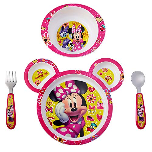 The First Years Disney Baby Minnie Mouse Feeding Set, 4 Piece