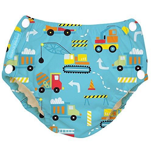 Charlie Banana Reusable Easy Snaps Swim Diaper (Construction)