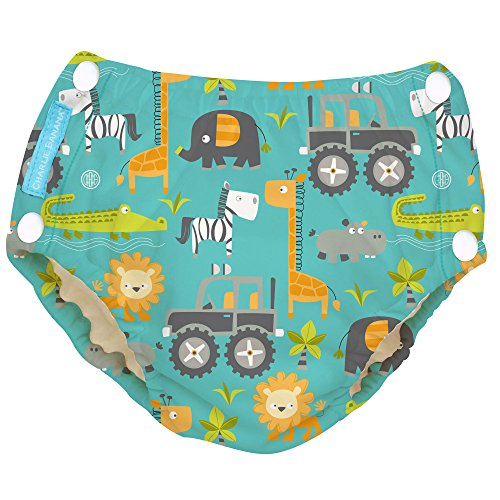 Charlie Banana Reusable Easy Snaps Swim Diaper (Gone Safari)