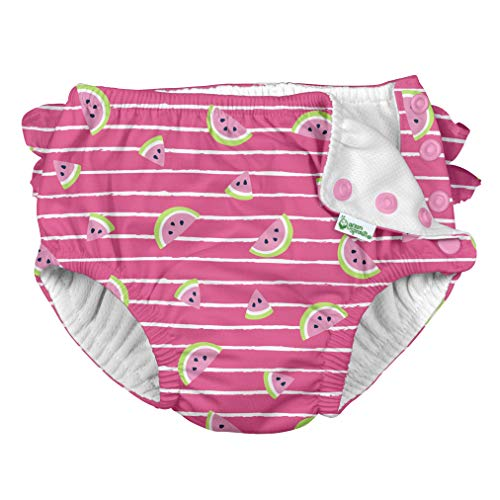 i Play Reusable Absorbent Baby and Toddler Swim Diapers (Hot Pink Watermelon Stripe)