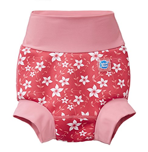 Splash About New and Improved Happy Nappy Swim Diapers (Pink Blossom)