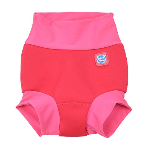 Splash About New and Improved Happy Nappy Swim Diapers (Pink Geranium)