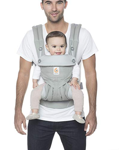 Ergobaby 360 All-Position Baby Carrier with Lumbar Support (Pearl Grey)