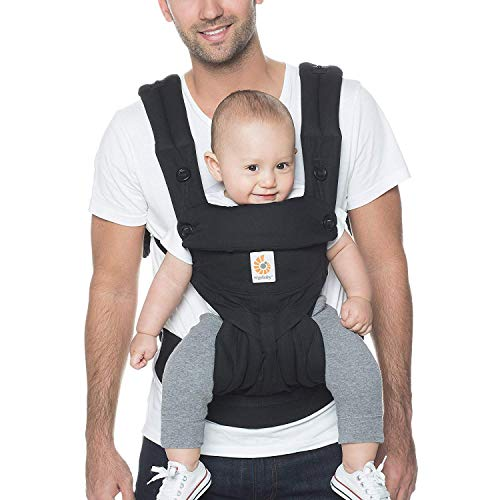 Ergobaby 360 All-Position Baby Carrier with Lumbar Support (Pure Black)
