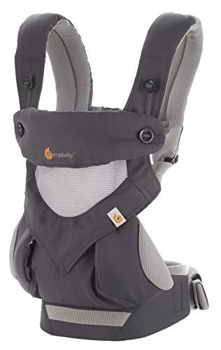 Ergobaby 360 All-Position Baby Carrier Cool Air Mesh (Carbon Grey)