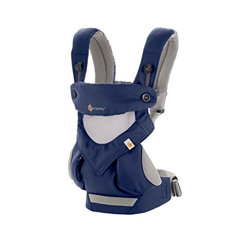 Ergobaby 360 All-Position Baby Carrier Cool Air Mesh (French Blue)