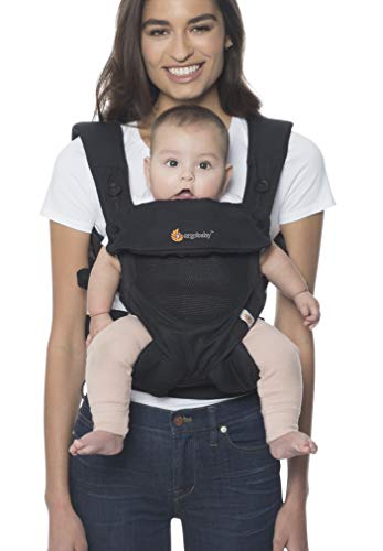 Ergobaby 360 All-Position Baby Carrier Cool Air Mesh (Onyx Black)