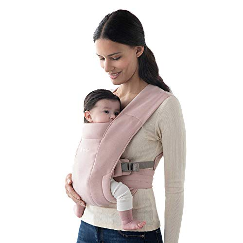 Ergobaby Embrace Cozy Newborn Baby Wrap Carrier (Blush Pink)