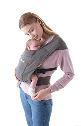 Ergobaby Embrace Cozy Newborn Baby Wrap Carrier (Grey)