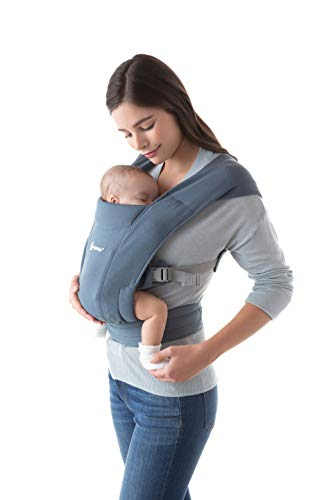 Ergobaby Embrace Cozy Newborn Baby Wrap Carrier (Oxford Blue)
