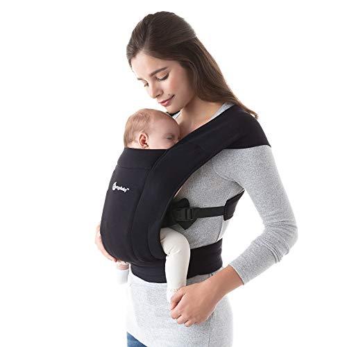 Ergobaby Embrace Cozy Newborn Baby Wrap Carrier (Pure Black)