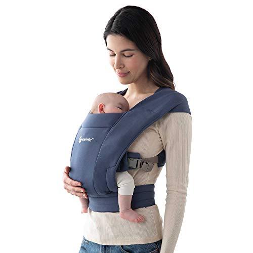 Ergobaby Embrace Cozy Newborn Baby Wrap Carrier (Soft Navy)