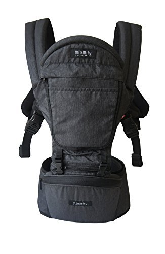 MiaMily Hipster Plus 3D Baby Carrier (Charcoal Grey)