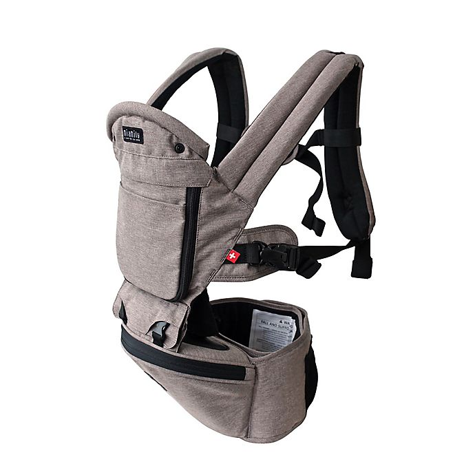 MiaMily Hipster Plus 3D Baby Carrier (Stone Grey)