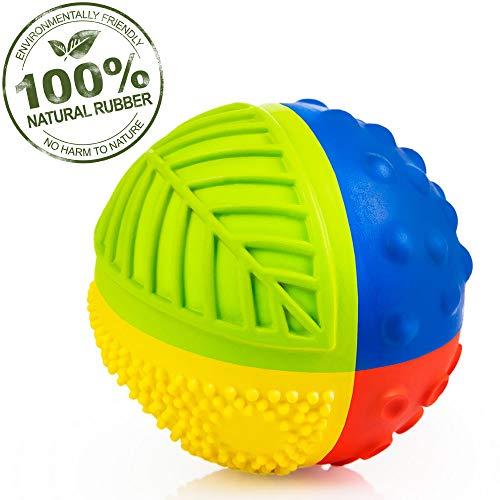 Pure Natural Rubber Sensory Ball (3″) RAINBOW – SEALED HOLE