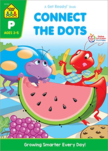 School Zone – Connect the Dots Workbook – Ages 3 to 5, Preschool to Kindergarten