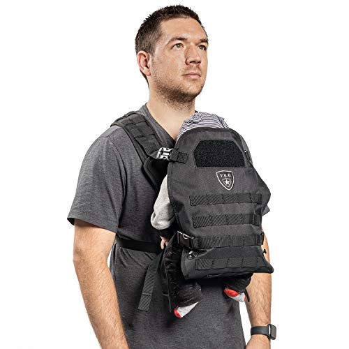 TBG – Mens Tactical Baby Carrier for Infants and Toddlers (Black)