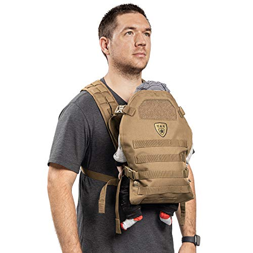 TBG – Mens Tactical Baby Carrier for Infants and Toddlers (Coyote Brown)